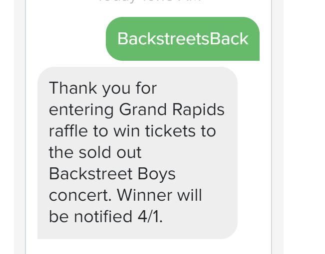 text messages for entertainment venues