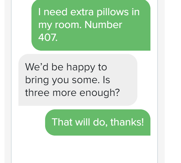 sms for hotels