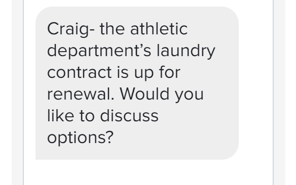 sms for laundromats